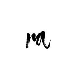 Ra r a alphabet letter logo icon combination vector