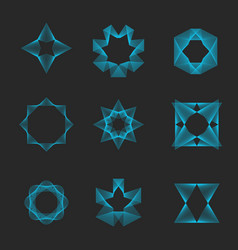 Sacred geometry set logo magic esoteric shape vector