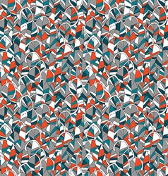 Seamless pattern with colored autumn leaves vector