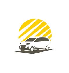 shadow car vector image