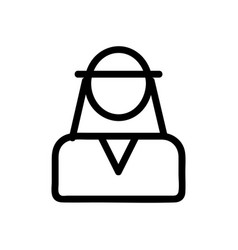 Sheikh icon isolated contour symbol vector
