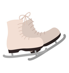 shoes with blade for figure skating in winter vector image