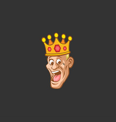 Smile king vector