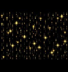 Sparkling golden rain background vector