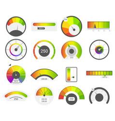 Speedometer icons credit score indicators vector