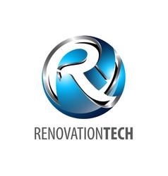 Sphere renovation technology logo concept design vector