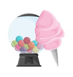 Sugar cotton and gums dispenser vector