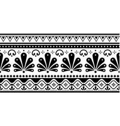 talavera poblana seamless long pattern vector image