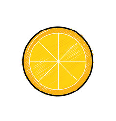 Tasty lemon slice organic fruit vector