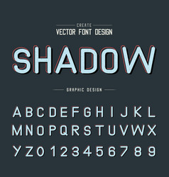 texture font and grunge alphabet shadow type vector image