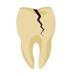 Tooth broken symbol vector