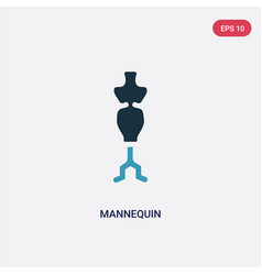 Two color mannequin icon from sew concept vector