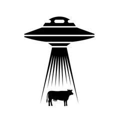 ufo adducts cow simple side view vector image