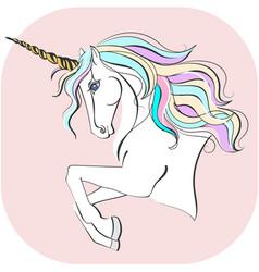 unicorn with magic horn unicorn vector image