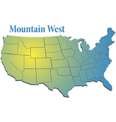 US states Region Mountain West map vector image