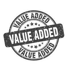 Value added stamp value added round grunge sign vector