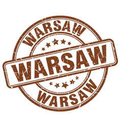 Warsaw stamp vector