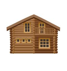 Wooden hut vector