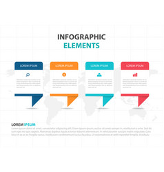 colorful shape business infographics elements vector image