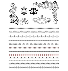 Corners and borders with floral patterns vector image vector image