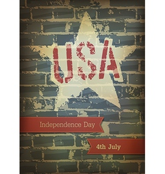 independence day brick background vector image vector image