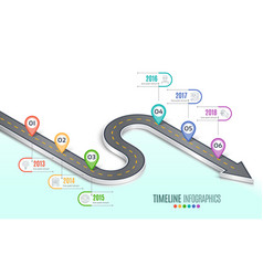 isometric navigation map infographic 6 steps vector image vector image