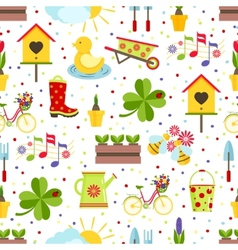 seamless spring background vector image vector image