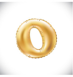 gold balloon font part of full set upper case vector image vector image