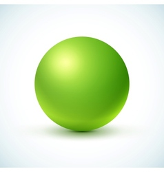 Green glossy sphere vector image