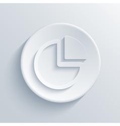 modern chart light circle icon vector image