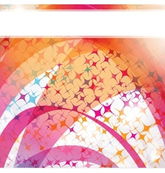Neon lights graphic design abstract background vector image