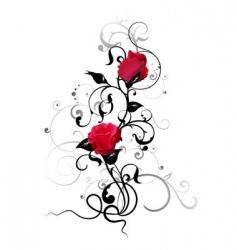 rose element vector image