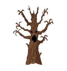 halloween tree halloween icon isolated on white vector image