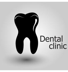 Human tooth emblem vector