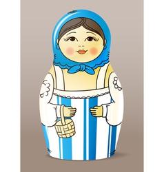 Matrioska doll vector image