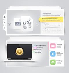 Website design elements portfolio template vector image vector image