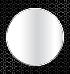 abstract metal texture background with frame vector image vector image