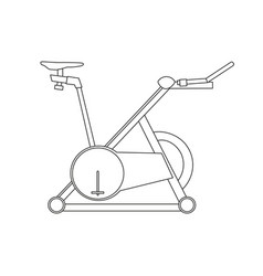 cycling bike fitness bicycle sport icon exercise vector image vector image