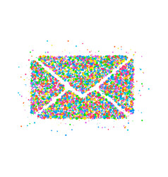envelope circles icon vector image vector image