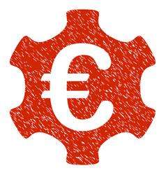 euro industry icon grunge watermark vector image vector image