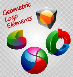 geom logos vector image vector image