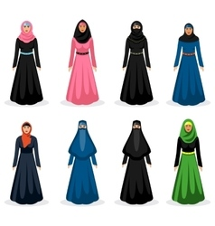 Middle eastern woman vector image