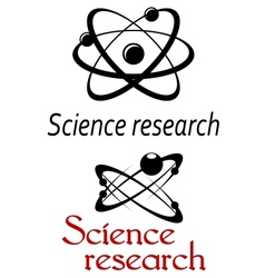 Science research emblems vector image vector image