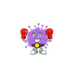 A sporty boxing coronavirus influenza mascot vector