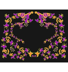 Abstract floral ornament vector image