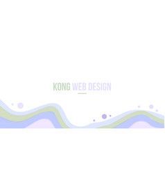 Abstract header website modern design with wave vector