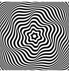 Abstract op art design vector image