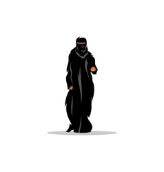 Arab woman in traditional dress sign vector image