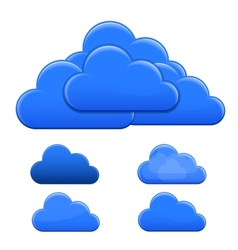 Blue clouds vector