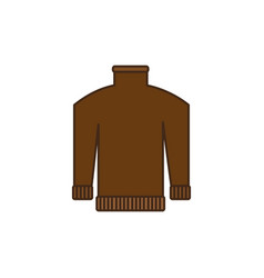 brown jacket icon vector image